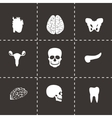 Anatomy icons set vector