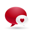 Red and white message of love icon vector