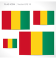 Guinea flag template vector