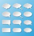 Set of paper speech bubbles vector