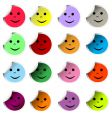 Happy faces vector