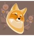 Background with a fox vector