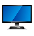 Computer wide flat screen monitor vector
