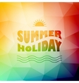 Abstract background with summer text vector