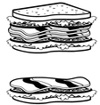 Two sandwiches icons vector