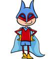 Superhero boy cartoon vector