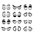 Comic cartoon eyes set vector
