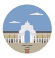 Commerce square lisbon portugal vector