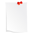 Note paper with push drawing pin vector