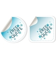 Free quote blue sticker icon button sign vector