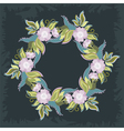 Wreath with poppies and leaves vector