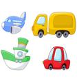 Cartoon transport set vector