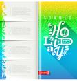 Summer holidays design vector