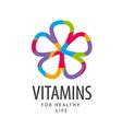 Logo vitamins colorful flower vector