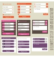User interface elements sets of login and vector