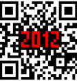 2012 new year counter qr code vector