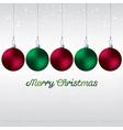 Simple elegant bauble christmas card in format vector