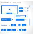Web site elements template vector