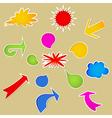 Set of various bubbles vector