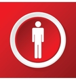 Man icon on red vector