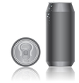 Aluminum packaging for beverages vector