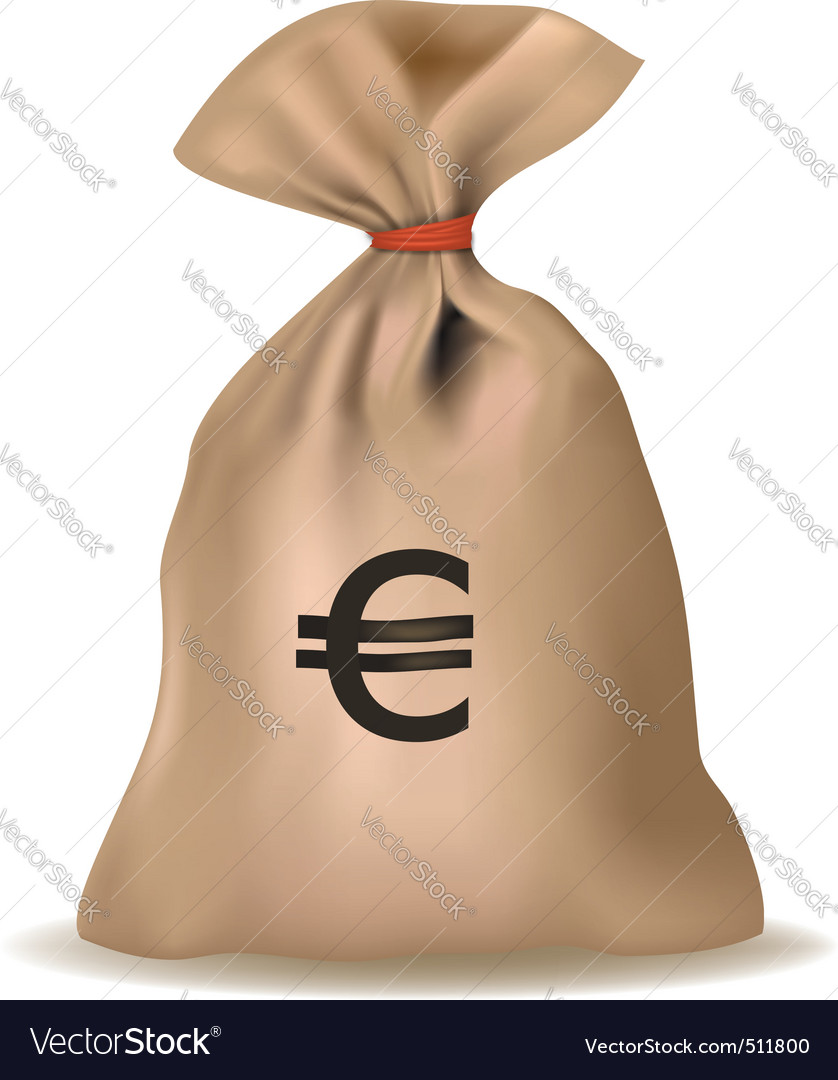Bag with euro vector vector | Price: 1 Credit (USD $1)