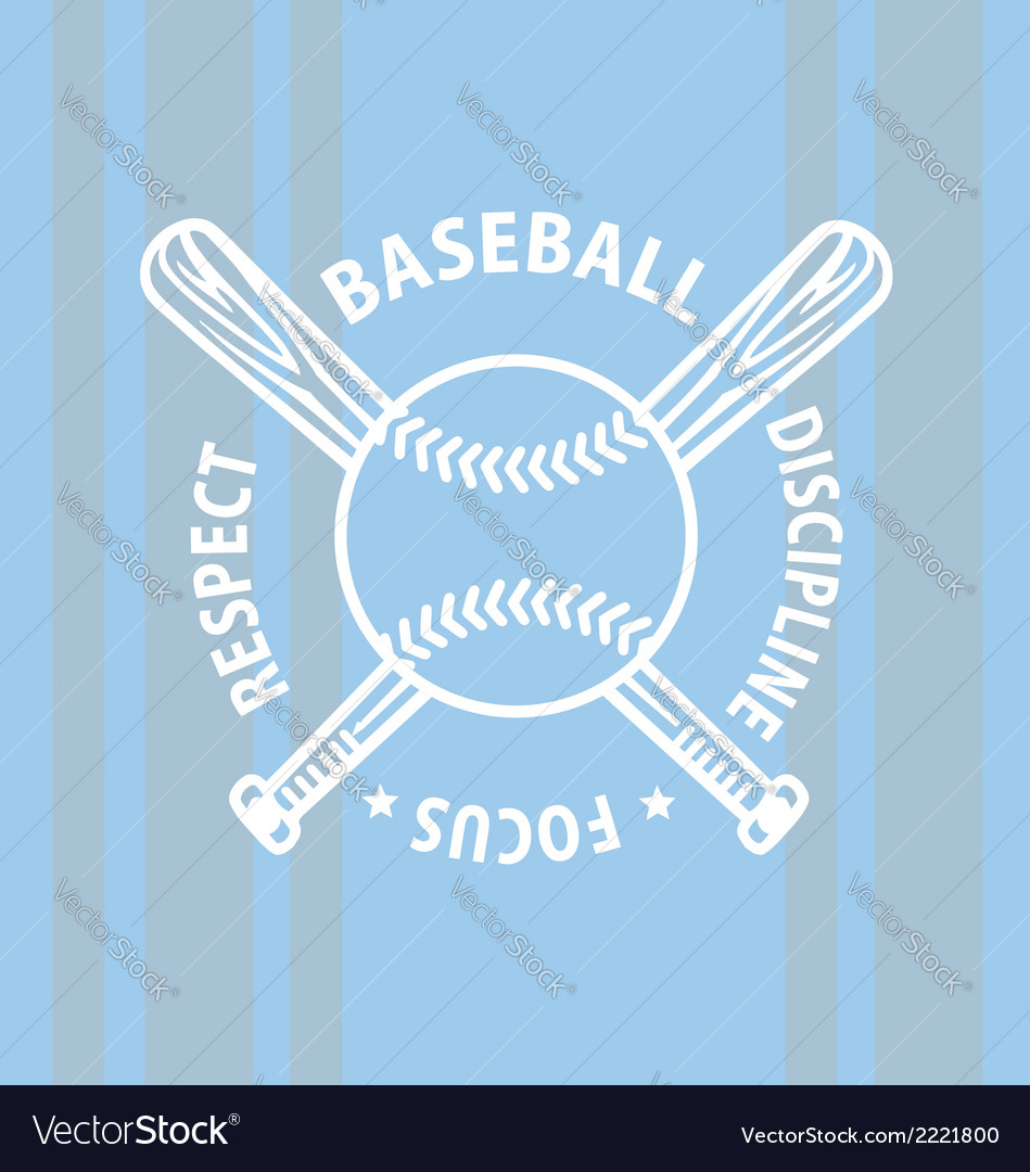 Baseball focus vector | Price: 1 Credit (USD $1)