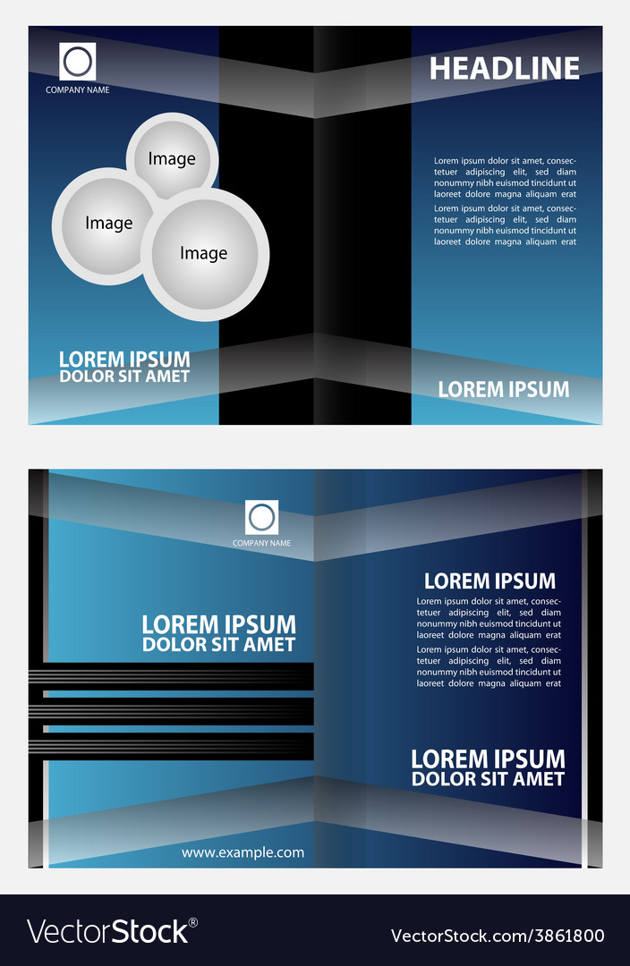Brochure design template abstract vector | Price: 1 Credit (USD $1)