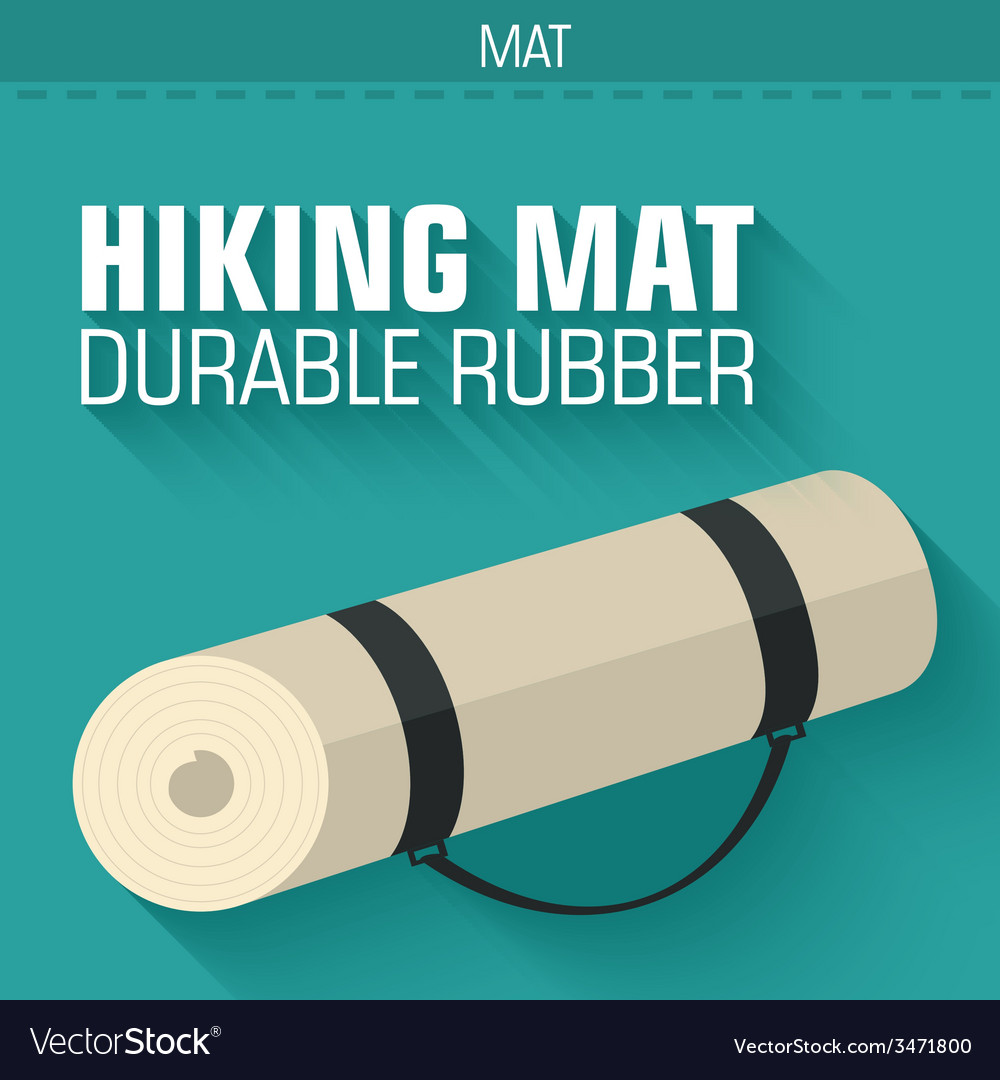 Flat hiking mat concept background design vector | Price: 1 Credit (USD $1)