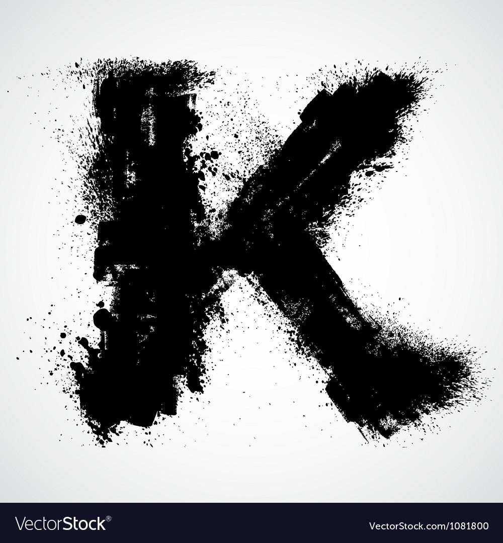 Grunge letter - alphabet symbol design vector   Price: 1 Credit (USD $1)