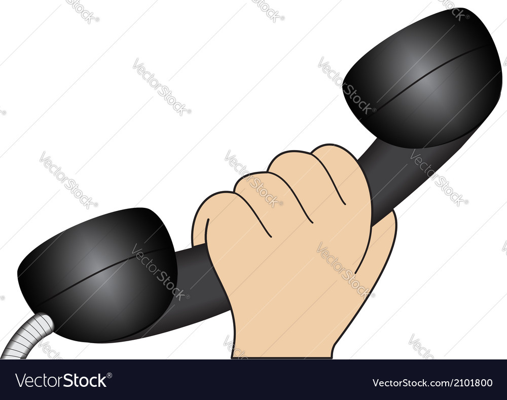 Hand with a telephone receiver vector | Price: 1 Credit (USD $1)