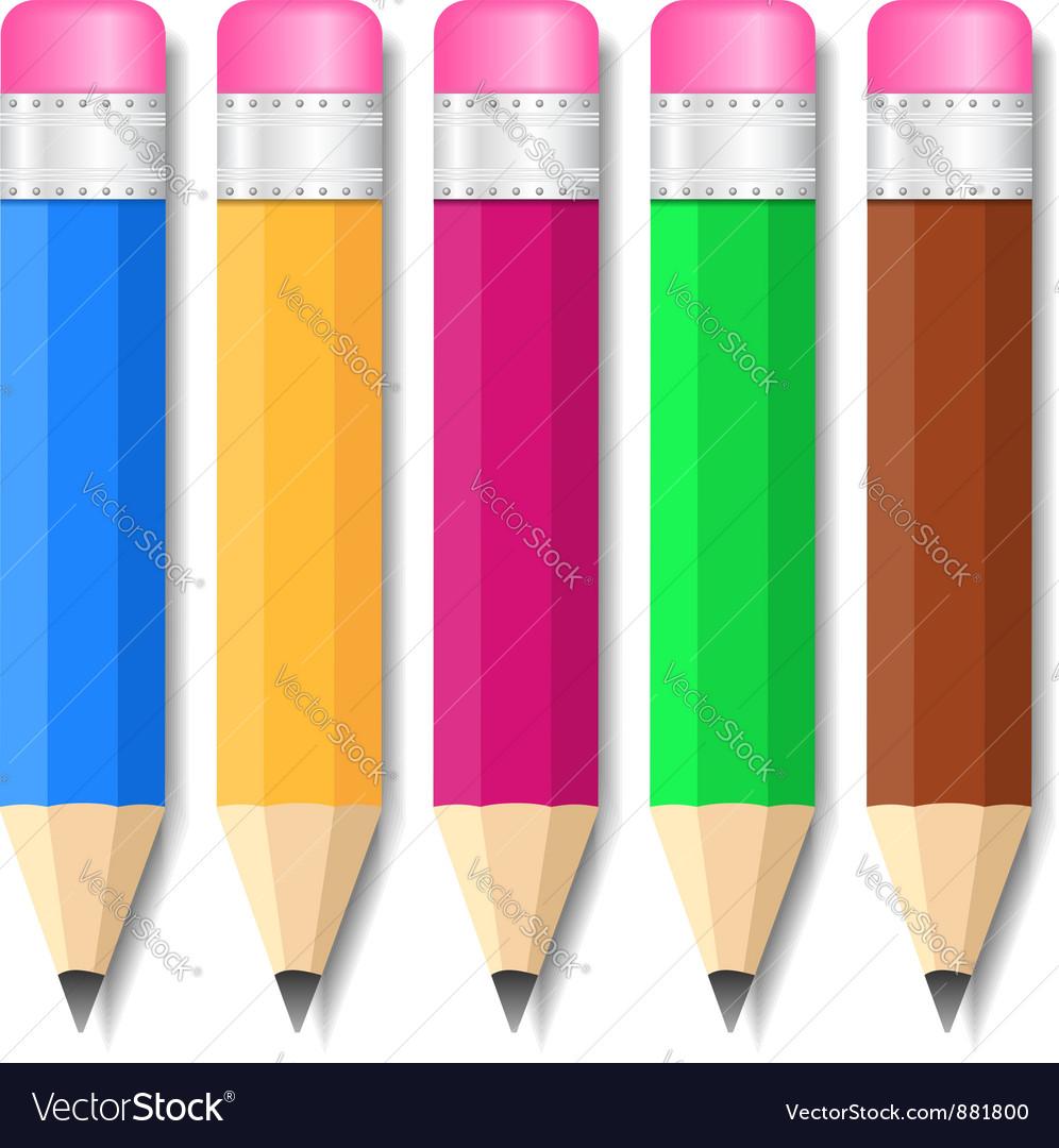 Pencils vector | Price: 1 Credit (USD $1)