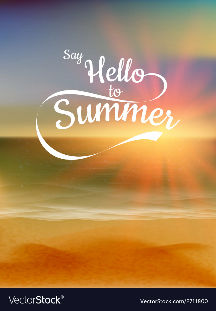 Summer defocused sunset background eps 10 vector | Price: 1 Credit (USD $1)