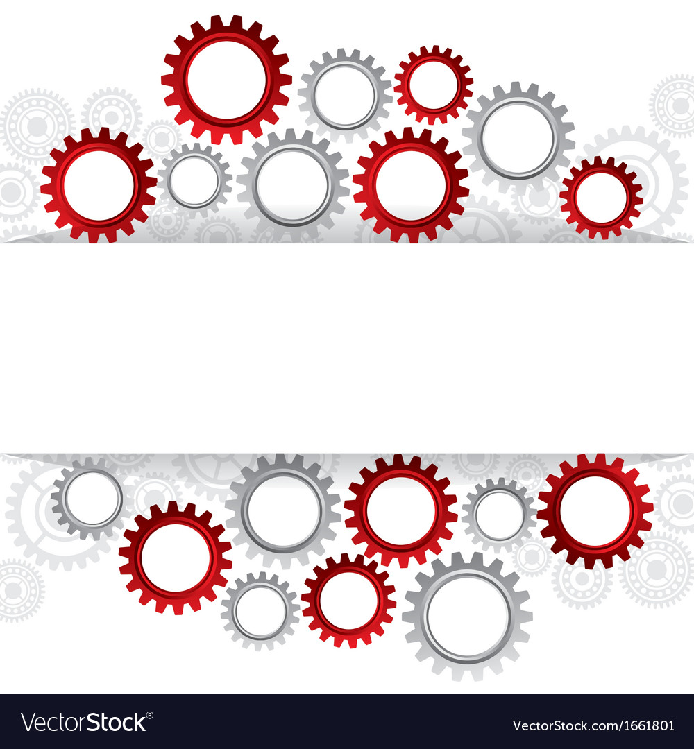Abstract web design with copy space in cog wheel vector | Price: 1 Credit (USD $1)