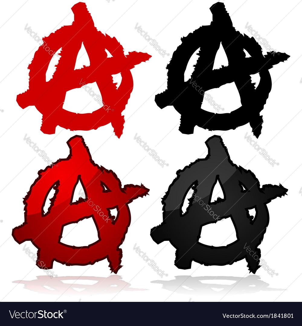 Anarchy symbol vector | Price: 1 Credit (USD $1)