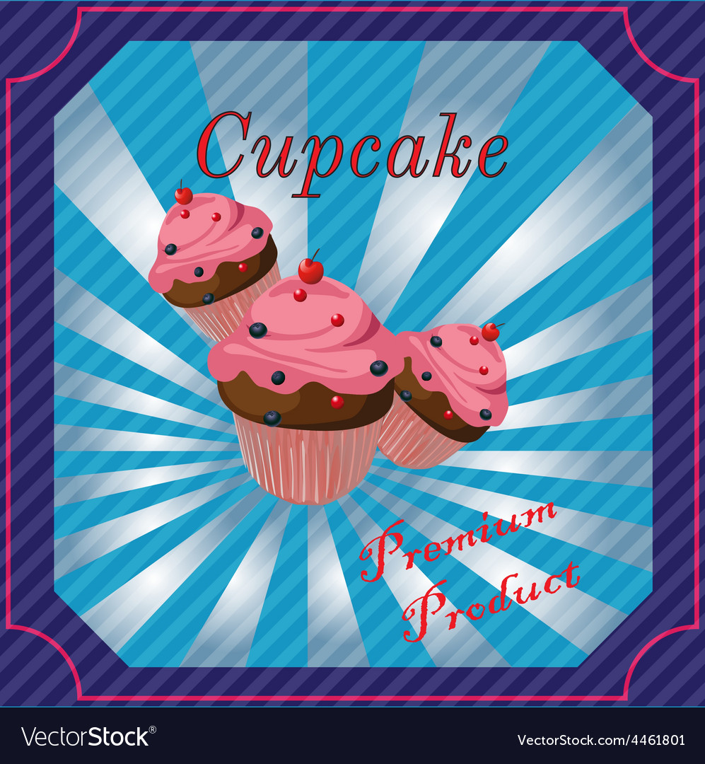 Cakes template poster vector | Price: 1 Credit (USD $1)