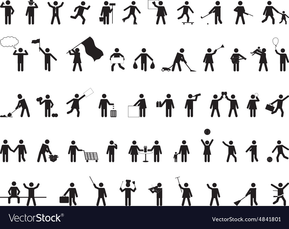 Common pictogram people activities vector