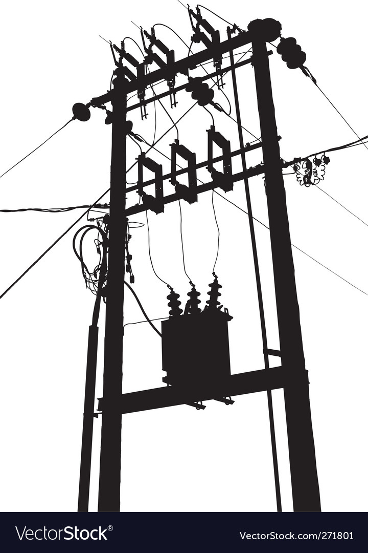 Electric transformer substation vector | Price: 1 Credit (USD $1)