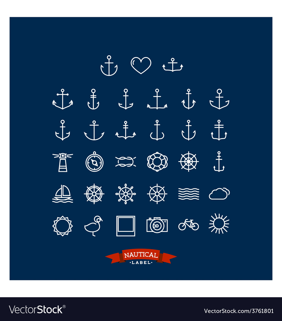 Nautical-icons-vector
