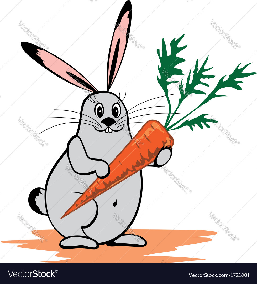 Rabbit and carrot vector | Price: 1 Credit (USD $1)