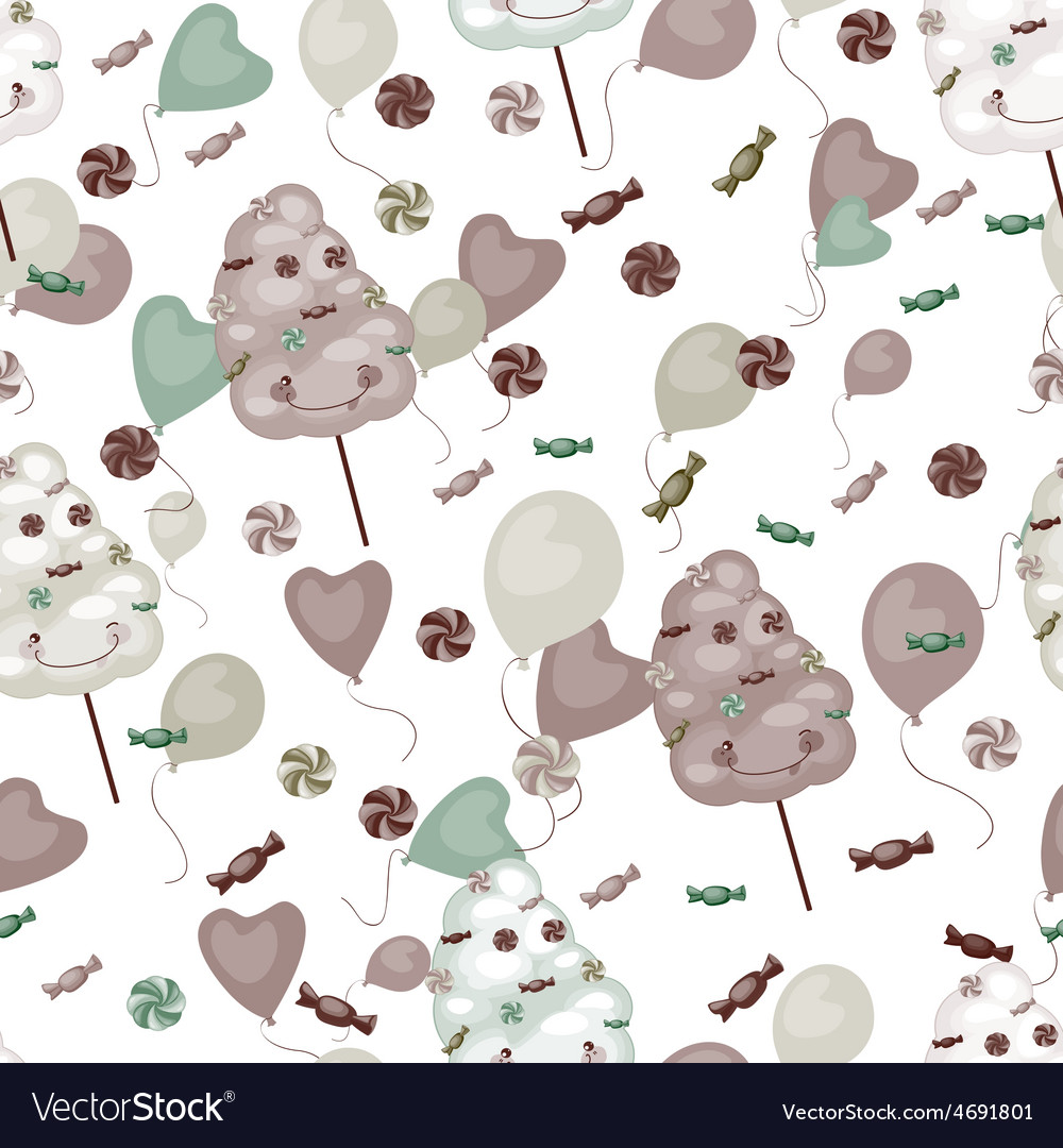 Seamless pattern of sweets cotton candy vector | Price: 1 Credit (USD $1)