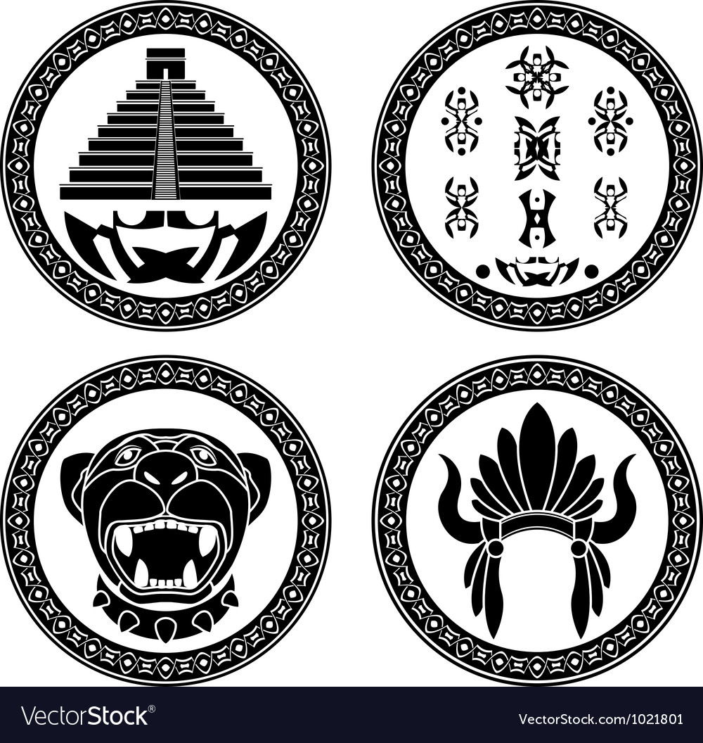 Set of mayan signs vector | Price: 1 Credit (USD $1)