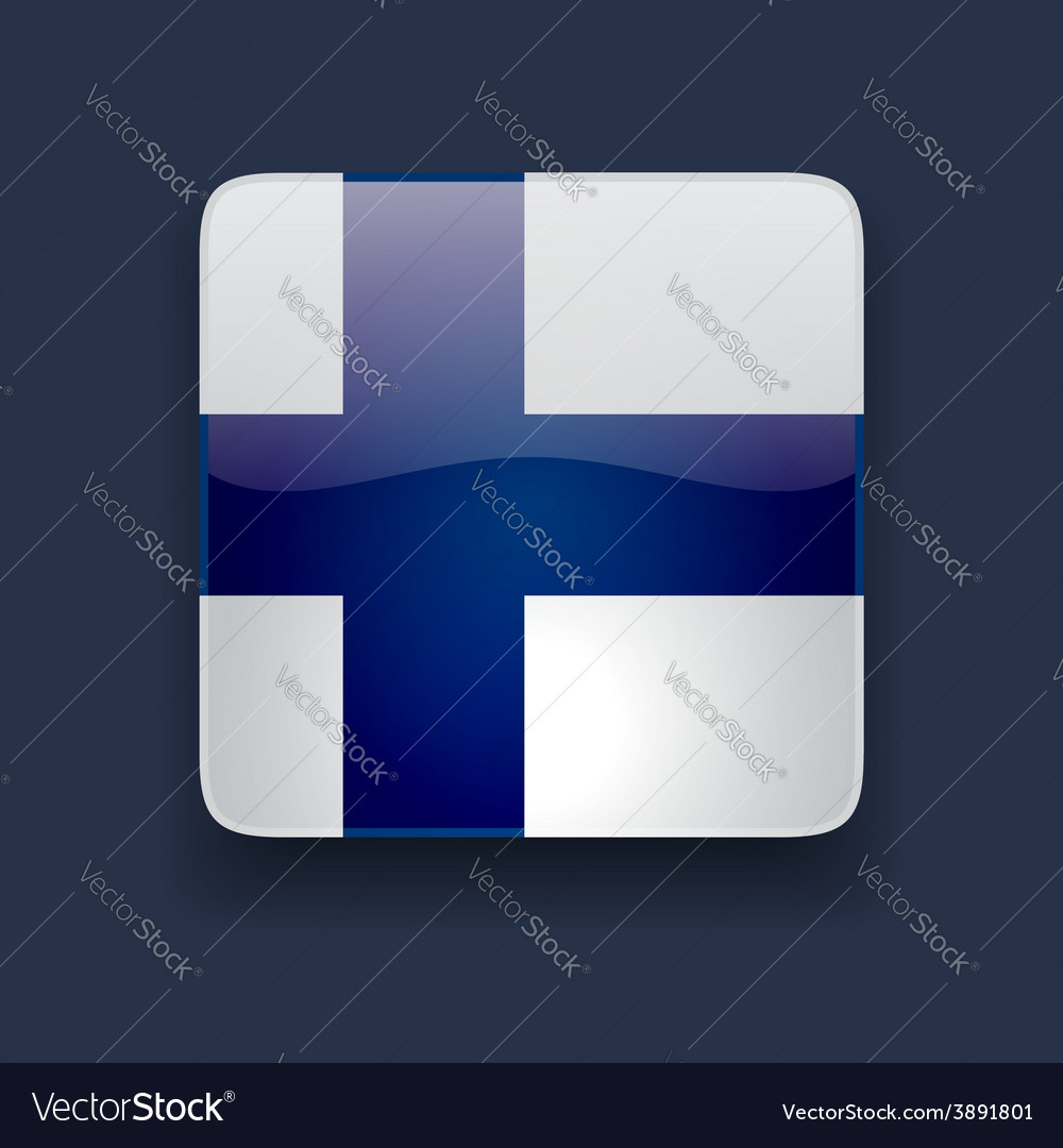 Square icon with flag of finland vector | Price: 1 Credit (USD $1)