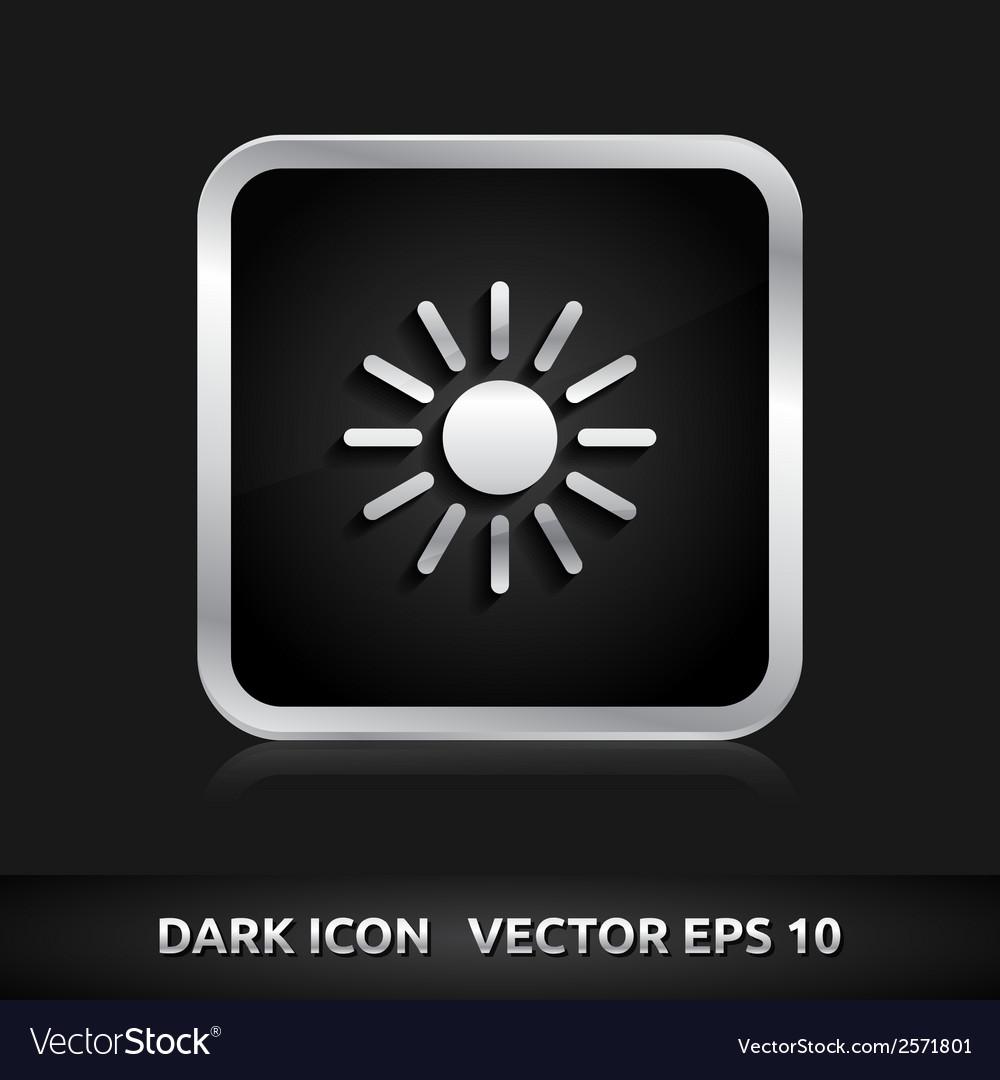 Sun summer icon silver metal vector   Price: 1 Credit (USD $1)