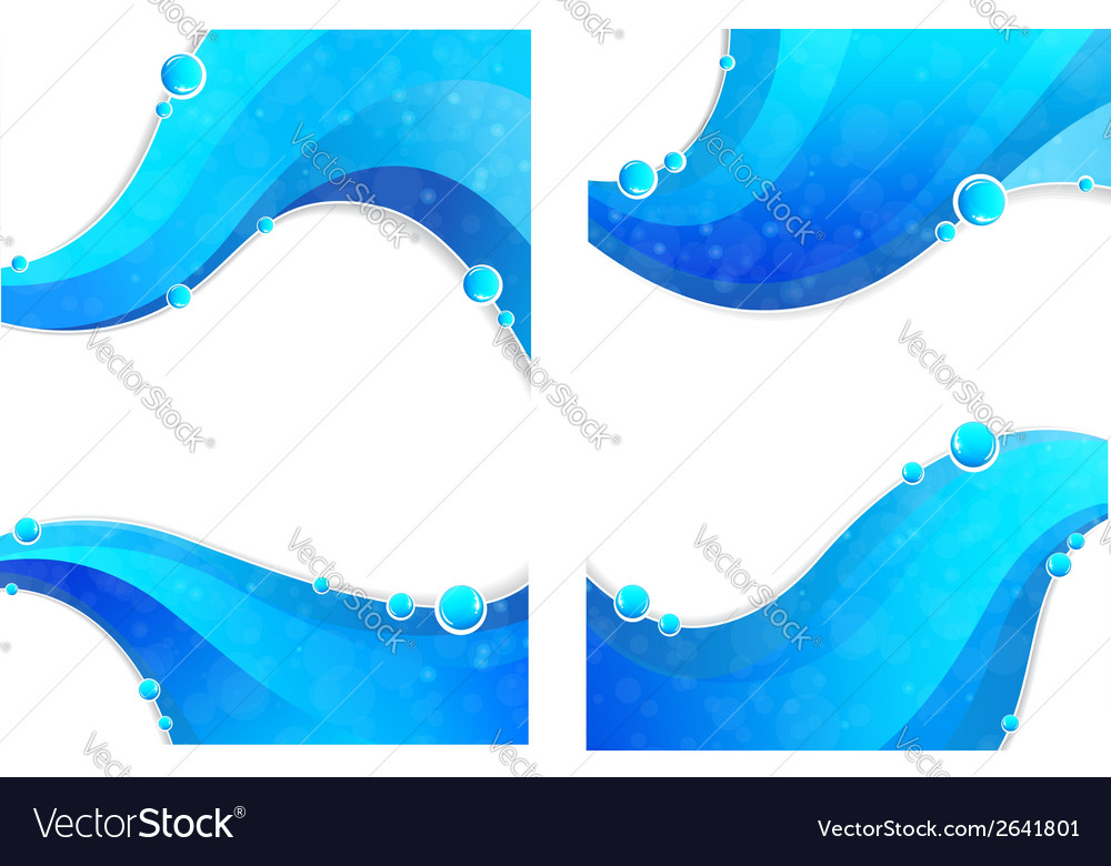 Water elements vector | Price: 1 Credit (USD $1)