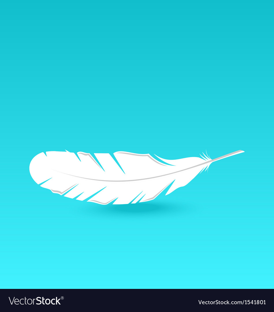 White feather falling vector | Price: 1 Credit (USD $1)