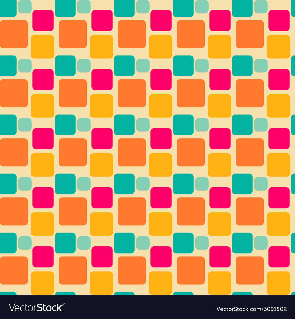 Abstract geometric square seamless pattern vector | Price: 1 Credit (USD $1)