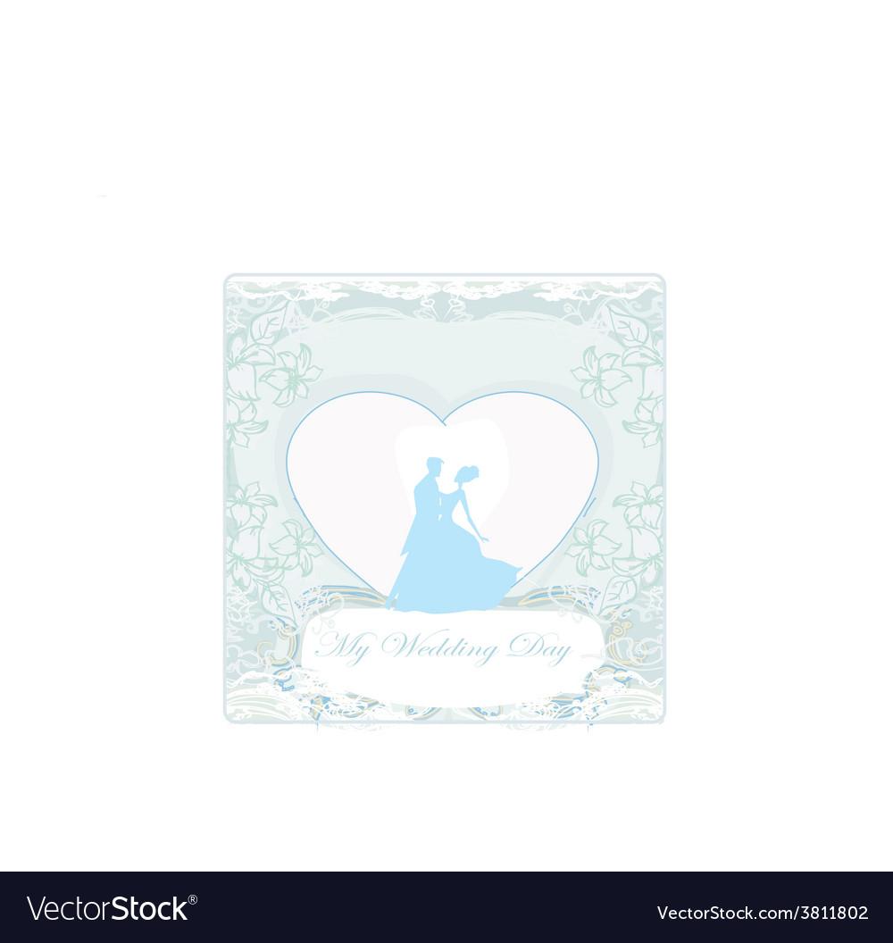 Ballroom wedding couple dancers - invitation card vector | Price: 1 Credit (USD $1)