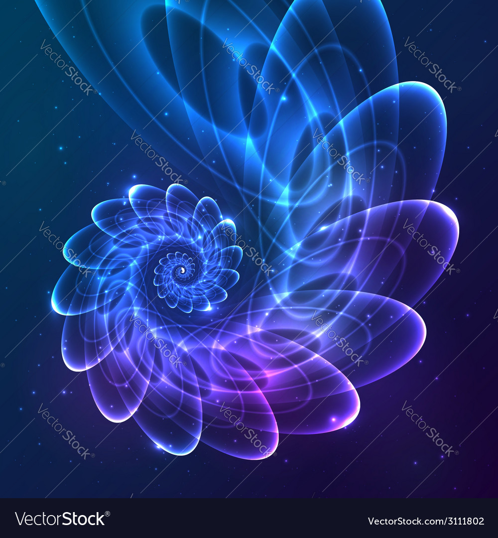 Blue abstract fractal cosmic spiral vector | Price: 1 Credit (USD $1)