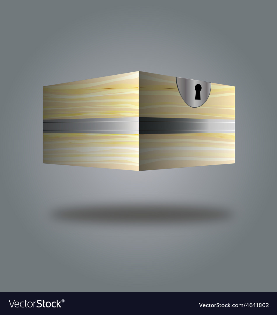 Box wooden box 3d vector | Price: 1 Credit (USD $1)